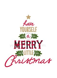 Have Yourself a Merry Little Christmas ~ free printable sign | YellowBlissRoad.com