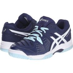 ASICS Women\u0027s GEL-Dedicate 4 Tennis Shoe, Indigo Blue/White/Crystal Blue, 8  M US: Bring a consistent game to the courts with a shoe to match.