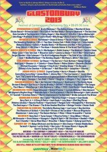 Glastonbury Line Up 2013 - The Hotlist