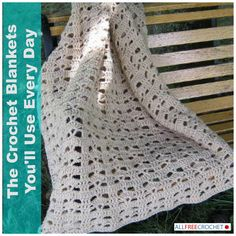 The Crochet Blankets You'll Use Every Day - If you're looking to add a little something to your home a crocheted blanket is the perfect way to go. Each of the blankets in this collection are blankets you can use every day. Dive in!