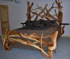 Juniper log bed:)