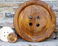 Enormous 17 Inch Wooden Button - Giant Wood Button - Huge Button - Big Button