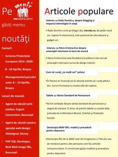 Newsletter-ul lunii martie. Gasiti locuri de munca, interviuri cu bloggeri, cursuri si alte articole:  https://www.meritangajat.ro/action/file/download?file_guid=34956