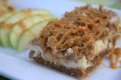 Caramel Apple Cheesecake Bars – cheesecake bars covered with cinnamon-spiced apples, a streusel topping and drizzled with sweet caramel. The PERFECT dessert for Fall! ~ 365 Days of Baking and Apple Desserts, Köstliche Desserts, Apple Recipes, Sweet Recipes, Delicious Desserts, Dessert Recipes, Yummy Food, Caramel Apple Cheesecake Bars, Cheesecake Recipes
