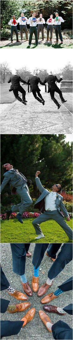 funny groomsmen wedding photo ideas /