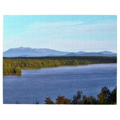 Mt. Katahdin - I95 Scenic Turnout Photo Puzzle by KJacksonPhotography --  Taken 09.13.2014 From the scenic turnout off of I95, mile marker 252, Mt. Katahdin with Salmon Stream Lake in the foreground. Mt.Katahdin is the tallest peak in the state of Maine at 5,267 ft. PC:188.225#nature #photography #mtkatahdin #scenic #landscape  #puzzle #puzzles