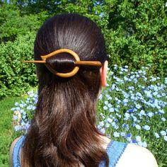 Wooden Shawl Pin Hair Clip Scarf pin Hair by mariya4woodcarving, $35.00