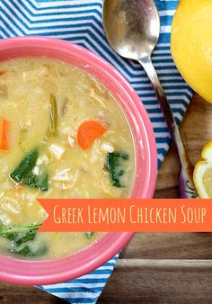 This Greek Lemon Chicken Soup is the perfect, quick weeknight dinner, with a hearty yet bright flavor and texture.  The egg yolks serve to thicken it and make it rich and delicious without making it too heavy.  via lifeingrace