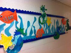 Class Artwork for Ocean/Beach Life unit