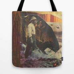 contemporary Collage art unique art tote bag from dan howard photography and society 6