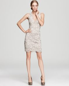 DKNY Sleeveless Lace V Neck Dress - Lace - Women's Trends - Fall Style Guide: It's On - LOOKBOOKS - Fashion Index - Bloomingdale's