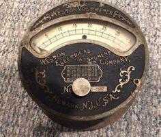 #antique Rare Antique Weston Voltmeter patented Nov. 06, 1888 please retweet