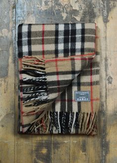 Classic Wool Blanket in Camel Thomson Tartan