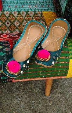 Indian dance shoes (Green) - Plümo Ltd