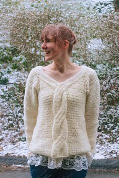First Snow Pullover : Knitty Deep Fall 2013