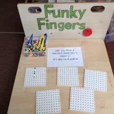 Some children directed to use tweezers. Talking tin reads the challenge to the children. Petite Section, Motor Skills Activities, Gross Motor Skills, Early Years Maths, Finger Gym, Reception Class, Funky Fingers, School Displays, Preschool Songs