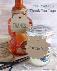 Free Printable Thank You Tags from The Casual Craftlete