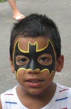 Batman party face paint