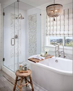 The only thing wrong with this bathroom - is that it's not in my house! What a dreamy space! by Tracy Lynn Studio