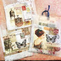 Made some glassine mail bags for friends. #usps #maillove #mailbags #glassinebags #collage #mailswaps Vintage Crafts, Vintage Ephemera, Vintage Paper, Paper Art, Paper Crafts, Glue Book, Art Journal Pages, Art Journals, Envelope Art