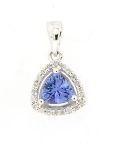Necklaces - Tanzanite: Tanzanite and Diamond Necklace! Tanzanite Rings, Belly Button Rings, Jewelery, Necklaces, Elegant, Diamond, Gifts, Stuff To Buy, Jewlery