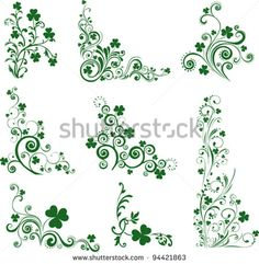 Set of St. Patrick's Day. Collection of design elements isolated on White background. Vector illustration