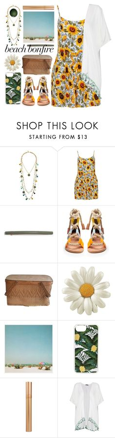 """""""sunflower"""" by foundlostme ❤ liked on Polyvore featuring Tory Burch, Madewell, Pierre Hardy, Pottery Barn, Sonix, Boohoo, NARS Cosmetics and beachbonfire"""