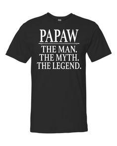 Papaw The Man The Myth The Legend Unisex Shirt - Papaw Shirt - Papaw Gift by FamilyTeeStore on Etsy