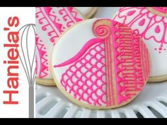 ▶ How To Decorate Henna Cookies, Piping on Cookies - YouTube