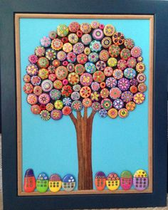I absolutely LOVE homemade art. I absolutely LOVE homemade art. Pebble Painting, Pebble Art, Stone Painting, Rock Painting, Stone Crafts, Rock Crafts, Arts And Crafts, Button Art, Button Crafts