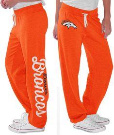 Denver Broncos Gear, Denver Broncos Womens, Go Broncos, Broncos Fans, Broncos Colors, Broncos Logo, Messi Y Ronaldinho, Fleece Pants, Cute Outfits