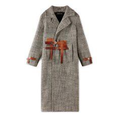 Designer Clothes, Shoes & Bags for Women Cl Fashion, Hijab Fashion, Long Brown Coat, Top Casual, Herringbone Coat, Iranian Women Fashion, Tweed Coat, Wool Coat, Winter Mode
