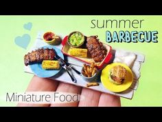 Miniature Summer Barbecue Tutorial // Dolls/Dollhouse // SugarCharmShop - YouTube