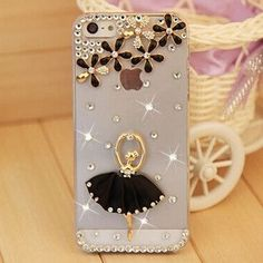 bf6b7c31f92 Cat Rhinestone Cell Phone Case Cover For iPhone 5 5S 4 4S se 6 6S Plus 7  7Plus