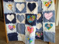 Blue Jean Rag Baby/Child/Lap Quilt by BearyCozyQuilts on Etsy