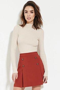 Contemporary Buttoned Skirt | LOVE21 #f21contemporary