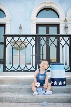 Portrait photography of a one year old kid. One Year Old Baby, Doha, Portrait Photography, Baby Boy, Stairs, Cake, Kids, Dress, Young Children