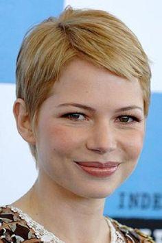 Michelle Williams Pixie Hair Cut