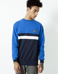 Ellesse Sweatshirt with Stripes | Shop men's clothing at The Idle Man