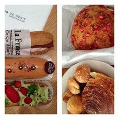 Paris: daughter took us on patisserie tour of Marais.Eclairs at L'Eclaires de Génie, chouquettes,brioche, praslines