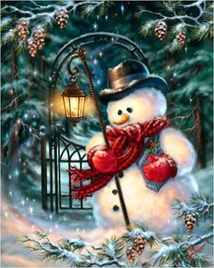 Diy Diamond Embroidery Christmas Snowman Needlework Cross-stitch Mosaic Diamond Painting Natal Christmas Decorations for Home,S Christmas Scenes, Vintage Christmas Cards, Christmas Pictures, Christmas Snowman, Winter Christmas, Christmas Holidays, Christmas Crafts, Merry Christmas, Christmas Decorations