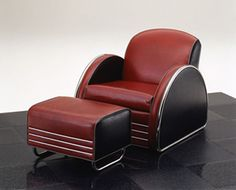 Bon Streamline Moderne Club Chair And Ottoman Designed By Donald Deskey (c