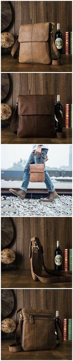 Full Grain Leather Flap Cover Messenger Bag Shoulder Bag Crossbody Bag JD4382 Photography Bags, Mini Messenger Bag, Casual Bags, Custom Bags, Canvas Leather, Crossbody Bag, Shoulder Bag, Purses, Cover