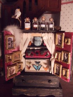 Miniature Antique Cabinet of Curiosities