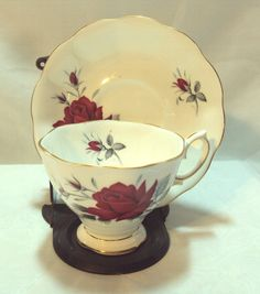 Vintage Teacup and Saucer Bone China Royal by DeesEnchantedCottage