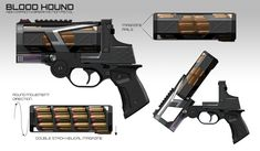 Future weapons concepts by Daryl Tan Anime Weapons, Sci Fi Weapons, Weapon Concept Art, Fantasy Weapons, Weapons Guns, Armes Futures, Arsenal, Future Weapons, Bloodhound