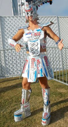 Coors Light Samurai Ninja Costume...just NO