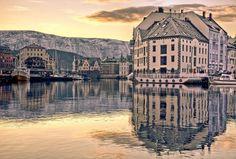 Ålesund Harbour, Norway -when I visit my grandparents, I go shopping in Alesund. Best Cruise, Cruise Port, Cruise Vacation, Dream Vacations, Vacation Destinations, Alesund, Trondheim, Bergen, Places To Travel