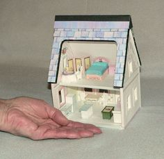 Casa de muñeca, miniatura, una casa de muñecas de papel para imprimir en escala de barrio descargar instantánea, Mini muebles venta