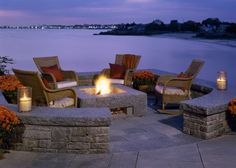 outdoor fire pit - yeah and the location too!